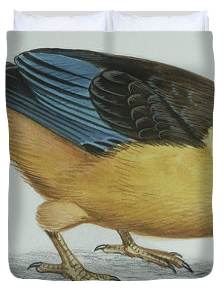 Shovel-billed Kookaburra Duvet Cover