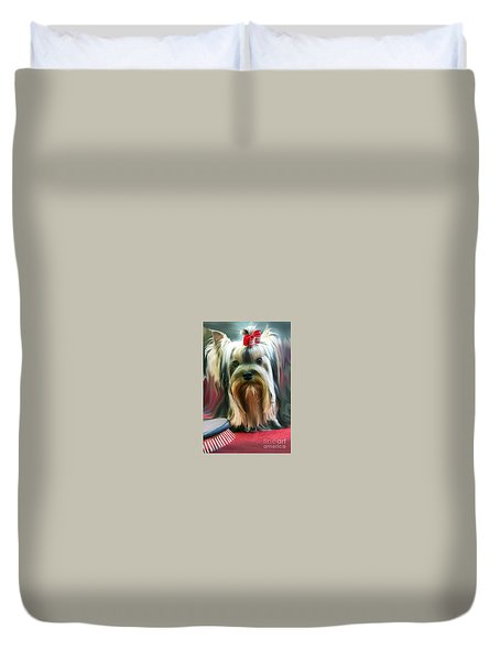 Duvet Cover featuring the photograph Show Girl by Graham Hawcroft pixsellpix