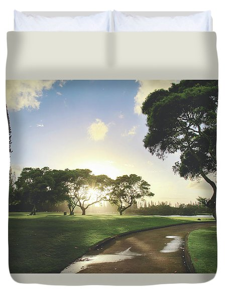 Duvet Cover featuring the photograph Show Me The Way by Laurie Search