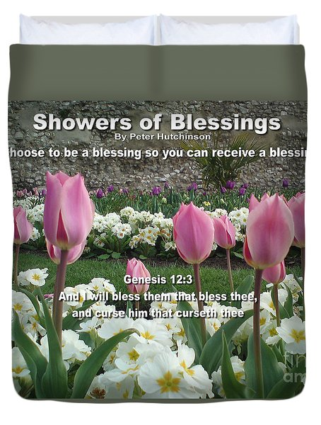 Showers Of Blessings Duvet Cover