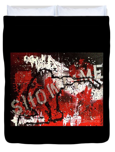 Showtime At The Madhouse Duvet Cover by Melissa Goodrich