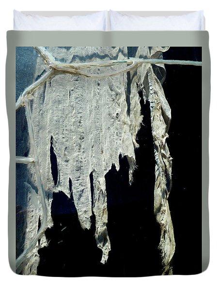 Shredded Curtains Duvet Cover