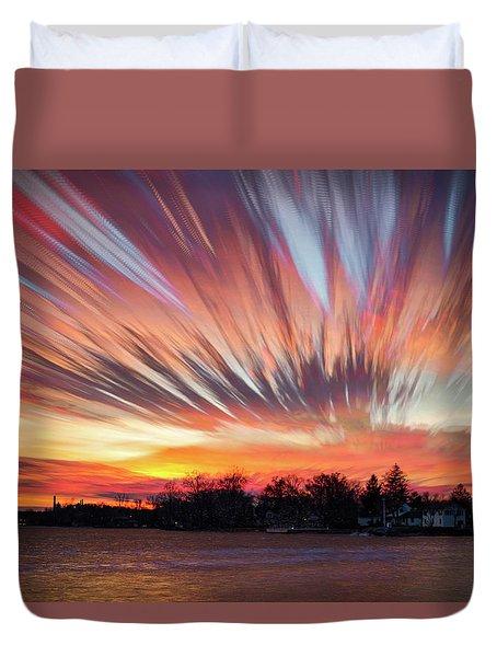 Shredded Sunset Duvet Cover