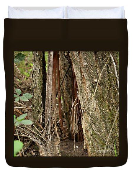 Shredded Tree Duvet Cover