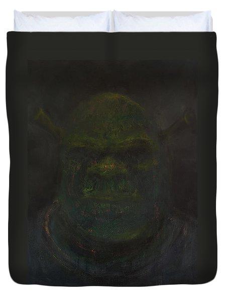 Shrek Duvet Cover by Antonio Ortiz