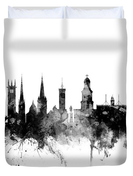 Shrewsbury England Skyline Duvet Cover