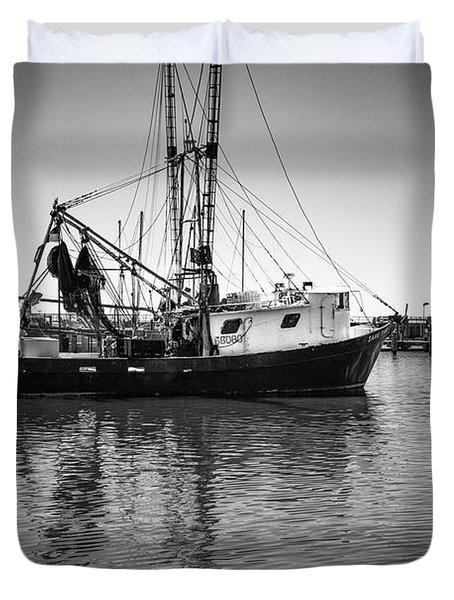Shrimp Boat Duvet Cover