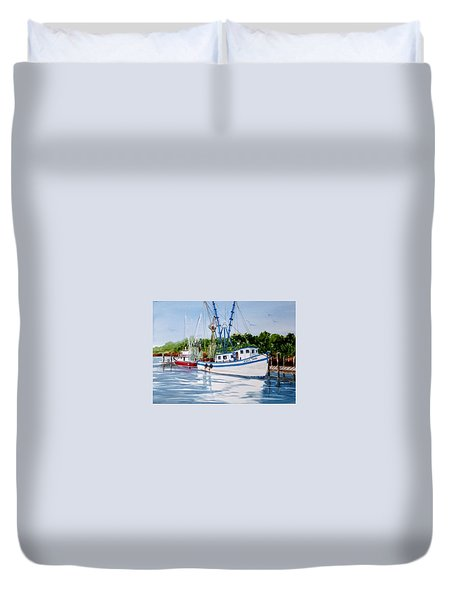 Shrimpers Duvet Cover