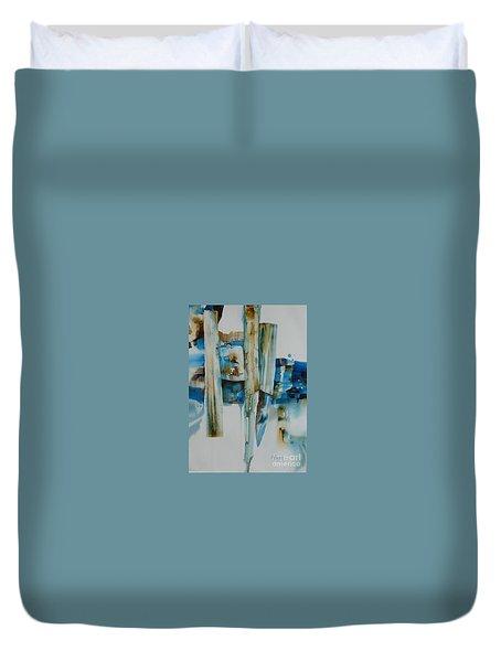 Shuffling Memories Duvet Cover by Donna Acheson-Juillet