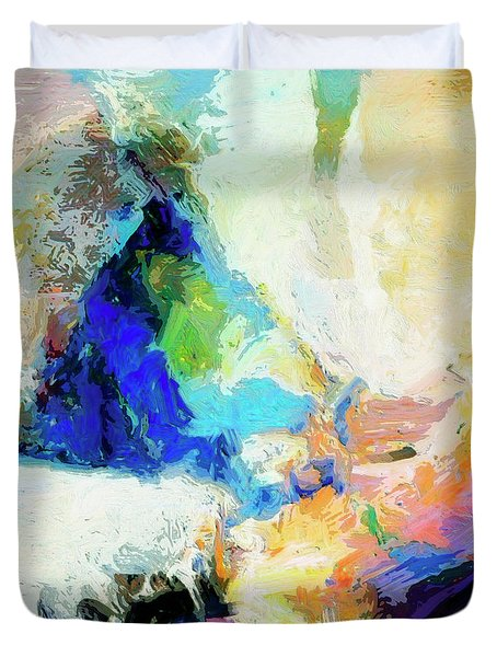 Duvet Cover featuring the painting Shuttle by Dominic Piperata