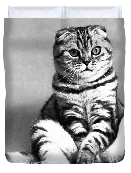 Shy Cat Duvet Cover