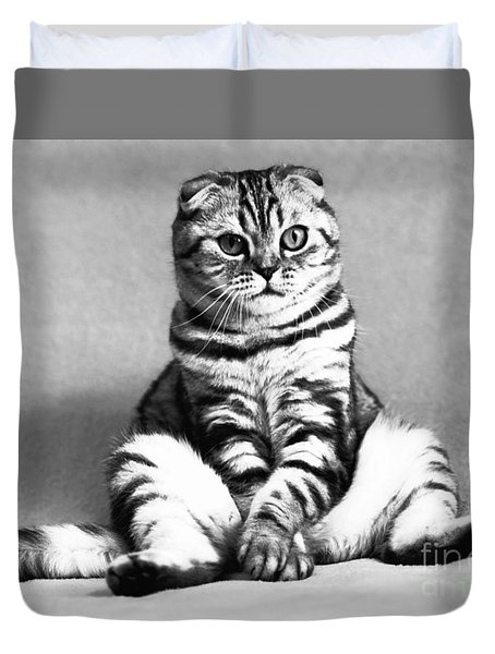 Shy Cat Duvet Cover