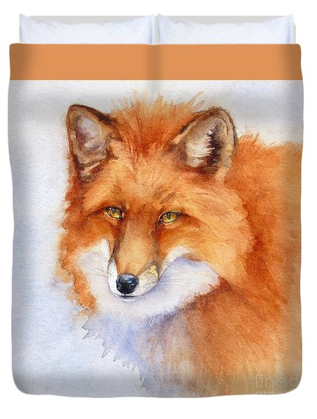 Shy Fox Duvet Cover