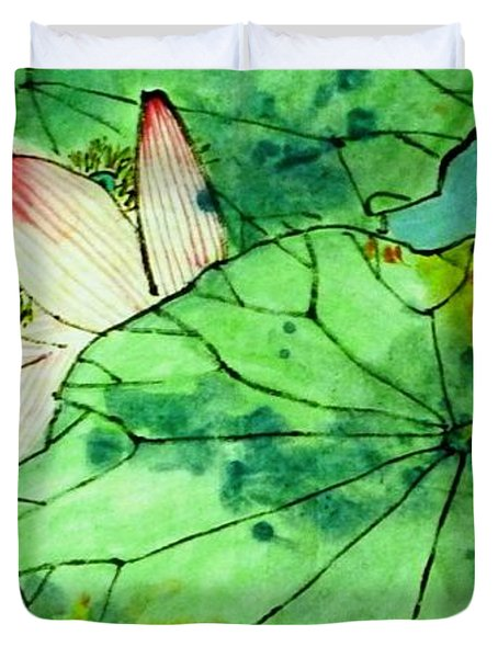 Shy Lotus Duvet Cover