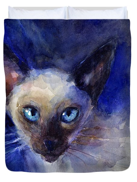 Siamese Cat  Duvet Cover