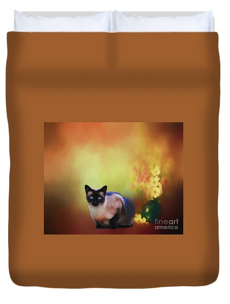 Siamese If You Please Duvet Cover by Suzanne Handel