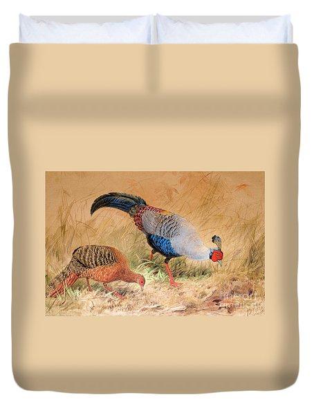 Siamese Pheasant  Duvet Cover by Joseph Wolf