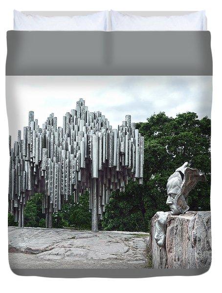 Sibelius Monument Duvet Cover