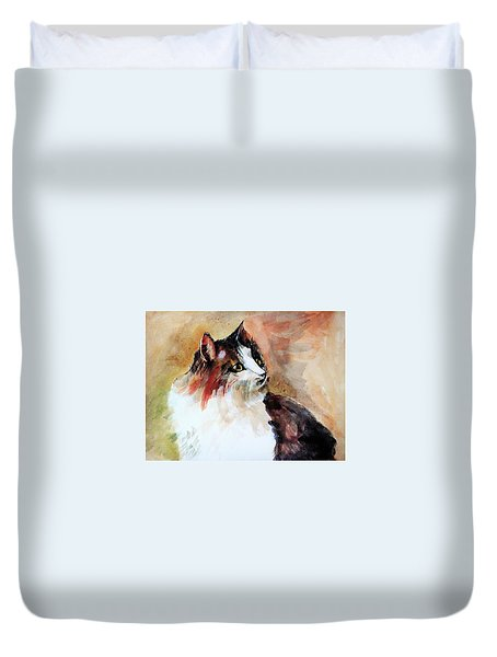 Siberian Forest Cat Duvet Cover by Khalid Saeed