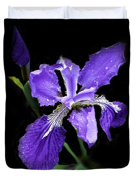 Siberian Iris Duvet Cover
