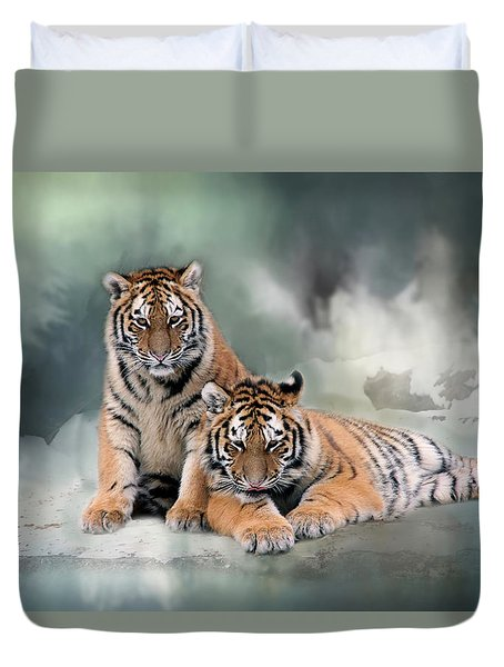 Siberian Twins Duvet Cover by Inge Riis McDonald