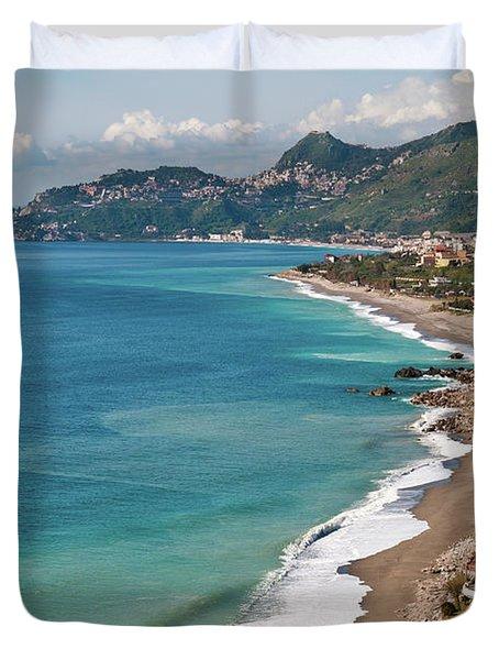 Sicilian Sea Sound Duvet Cover
