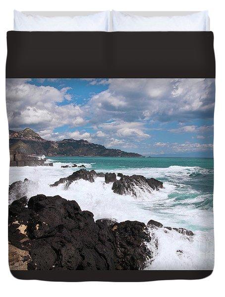 Sicilian Stormy Sound Duvet Cover