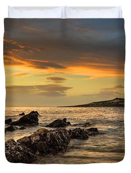 Sicilian Sunset Isola Delle Femmine Duvet Cover