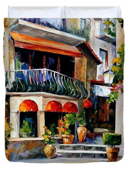 Sicily - Spring Morning Duvet Cover by Leonid Afremov