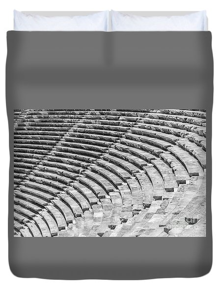 Side Amphitheatre Steps Duvet Cover