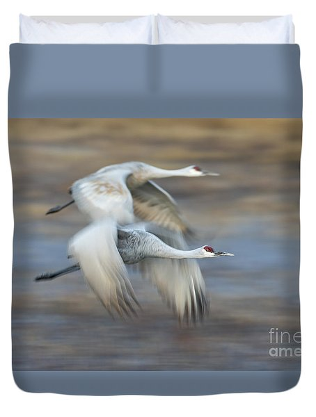 Side By Side Duvet Cover by Bryan Keil