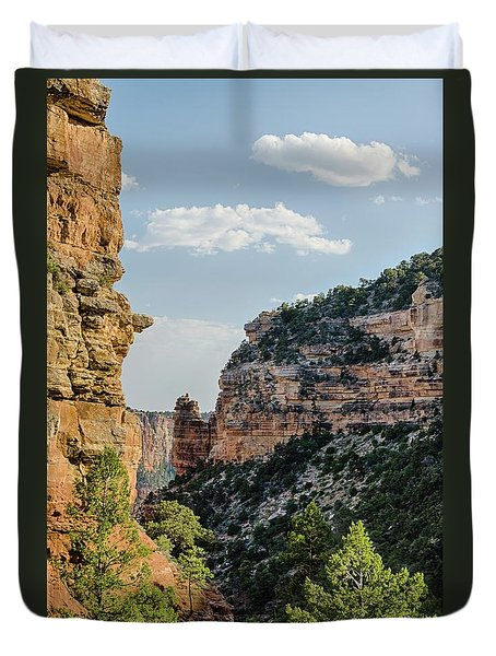 Side Canyon View Duvet Cover