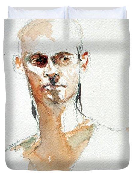 Side Glance Duvet Cover