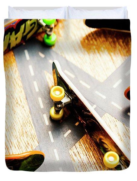 Side Streets Of Skate Duvet Cover