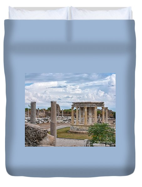 Side Temple Of Tyche Ruins Duvet Cover