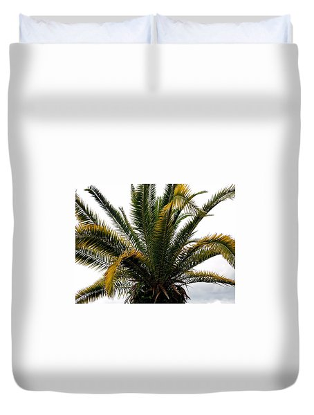 Sideshow Palm Duvet Cover