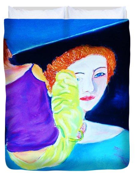 Sidewalk Artist II Duvet Cover
