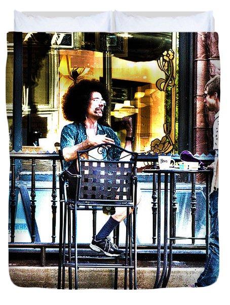 048 - Sidewalk Cafe Duvet Cover