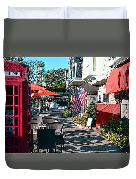 Sidewalk Patio Duvet Cover
