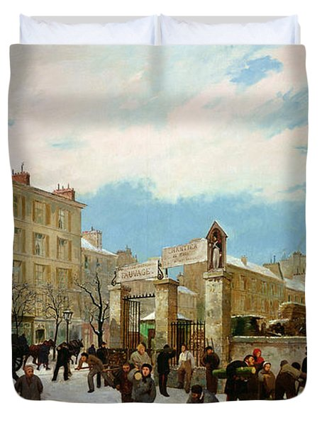 Siege Of Paris Duvet Cover by Jacques Guiaud