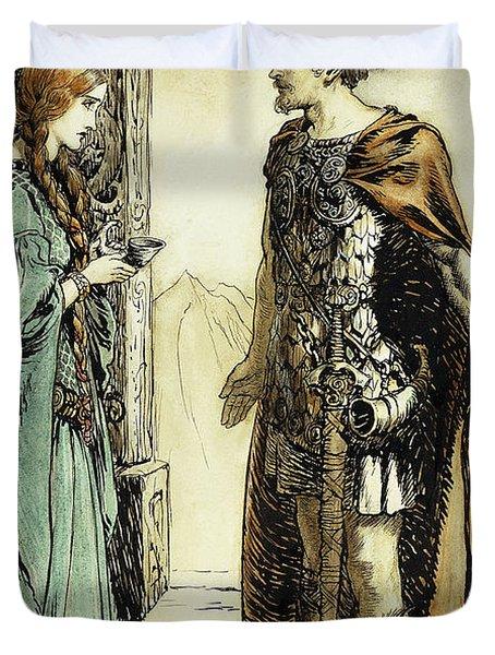 Siegfried Meets Gutrune Duvet Cover