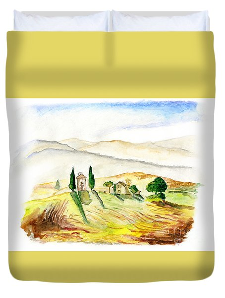 Siena. Italy Duvet Cover