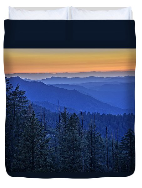 Sierra Fire Duvet Cover by Rick Berk