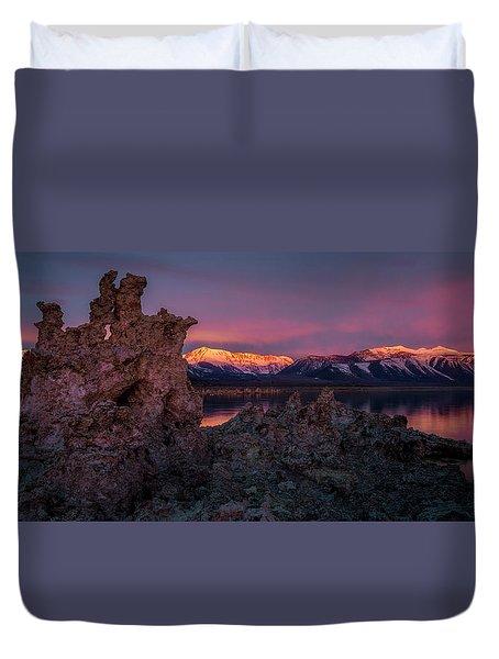 Sierra Glow Duvet Cover by Bjorn Burton