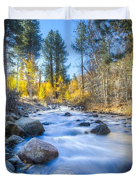 Sierra Mountain Stream Duvet Cover