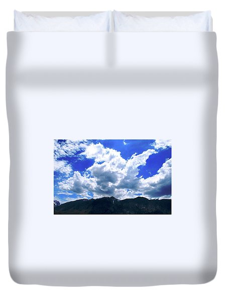 Sierra Nevada Cloudscape Duvet Cover