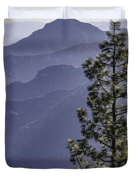 Duvet Cover featuring the photograph Sierra Nevada Foothills by Steven Sparks