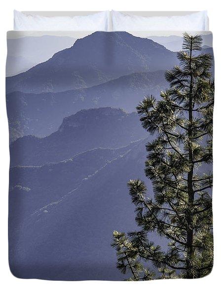 Sierra Nevada Foothills Duvet Cover