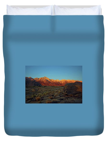 Sierra Nevada Sunrise Duvet Cover