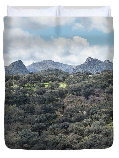 Sierra Ronda, Andalucia Spain Duvet Cover